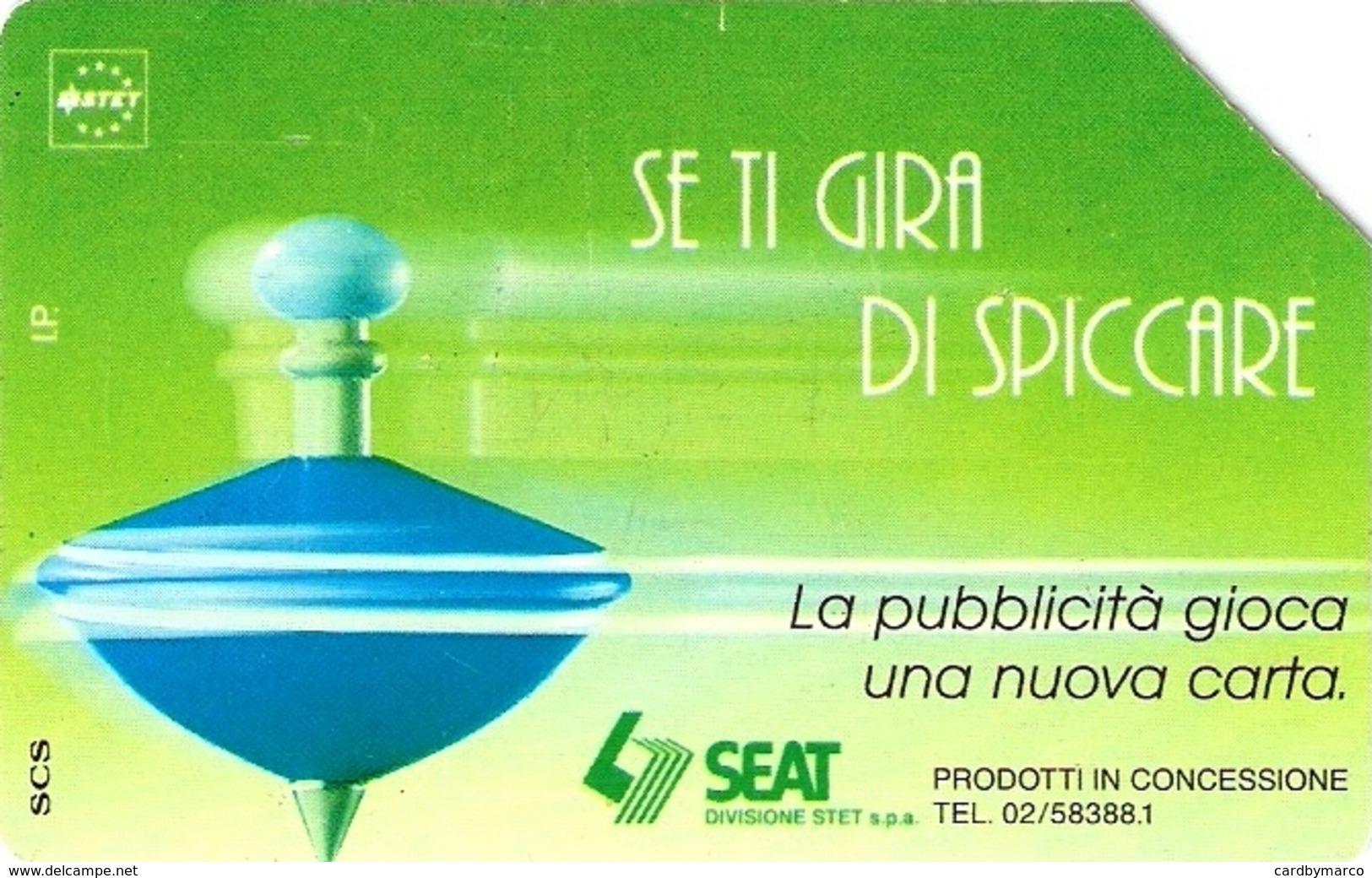 *ITALIA: SE TI GIRA DI SPICCARE (VERDE)(A)* - Scheda Usata - Italie