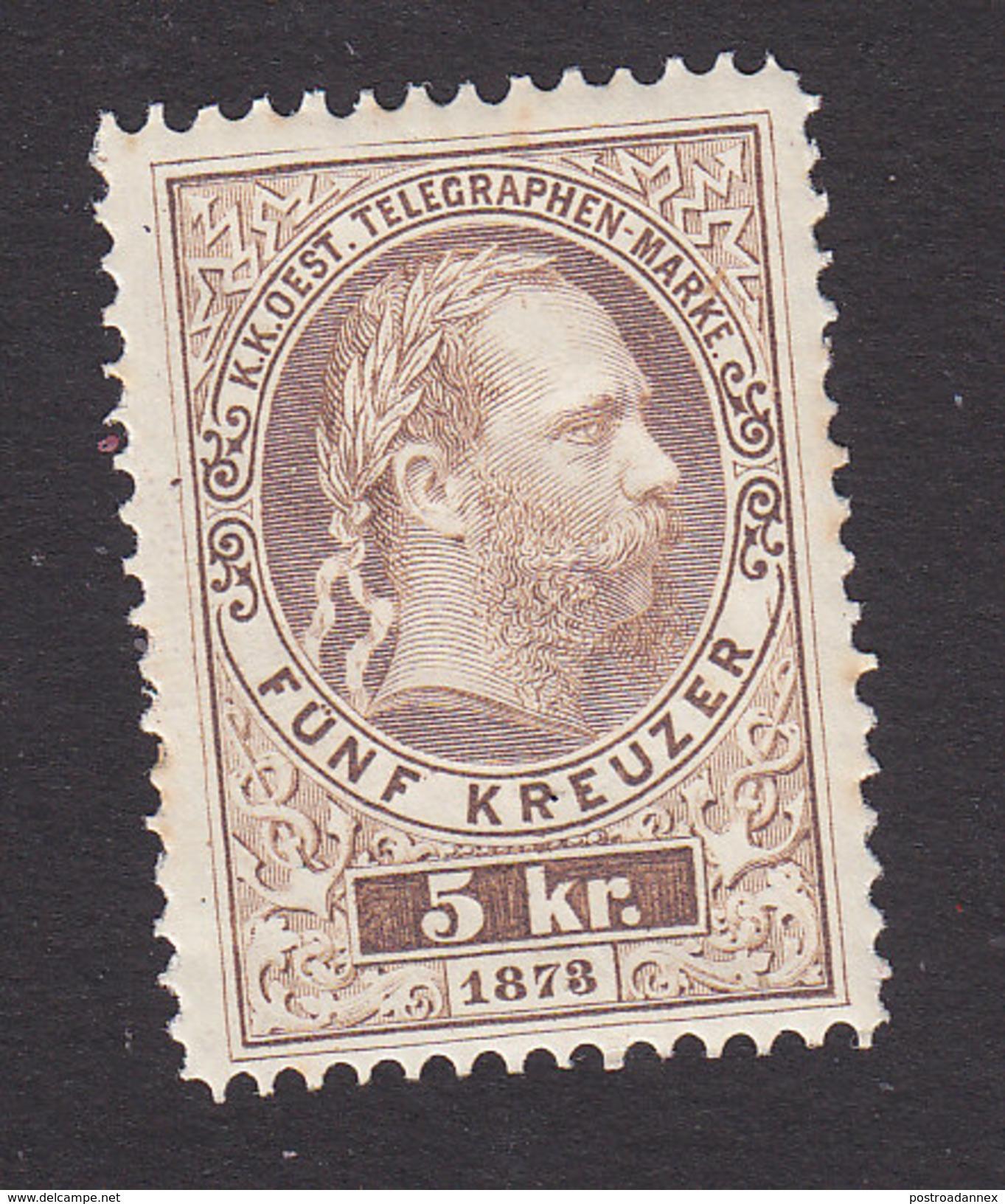 Austria, Scott #Telegraph, Mint Hinged, Franz Josef, Issued 1873 - Telegraph
