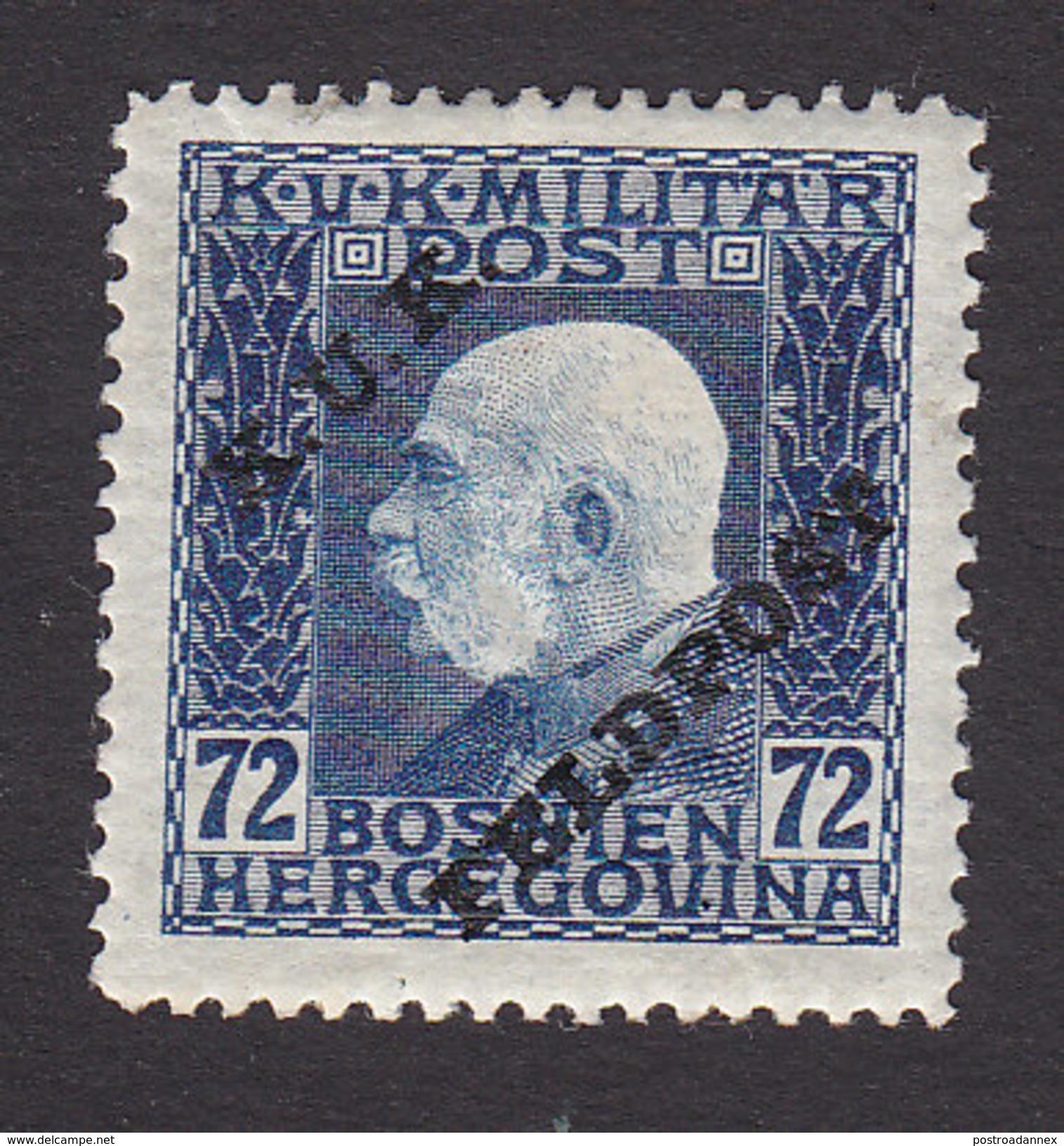 Austria, Scott #M16, Mint Hinged, Franz Josef Overprinted Military Stamp, Issued 1915 - Autriche