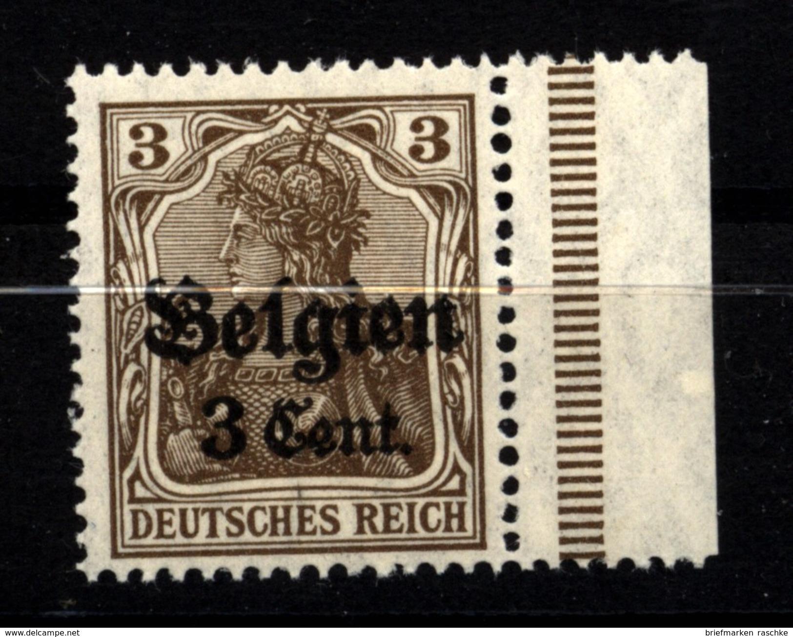 Belgien,11,rechts Dgz,xx - Besetzungen 1914-18