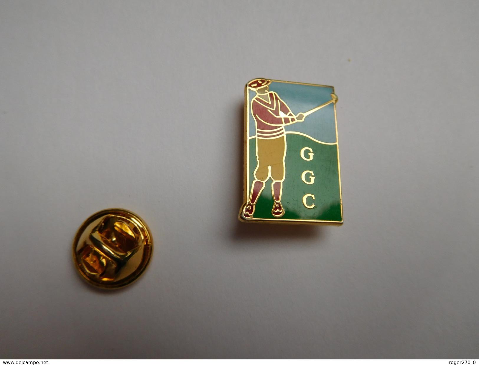 Superbe Pin's En EGF , Golf , GGC , Laboratoires Glaxo Golf Club - Golf