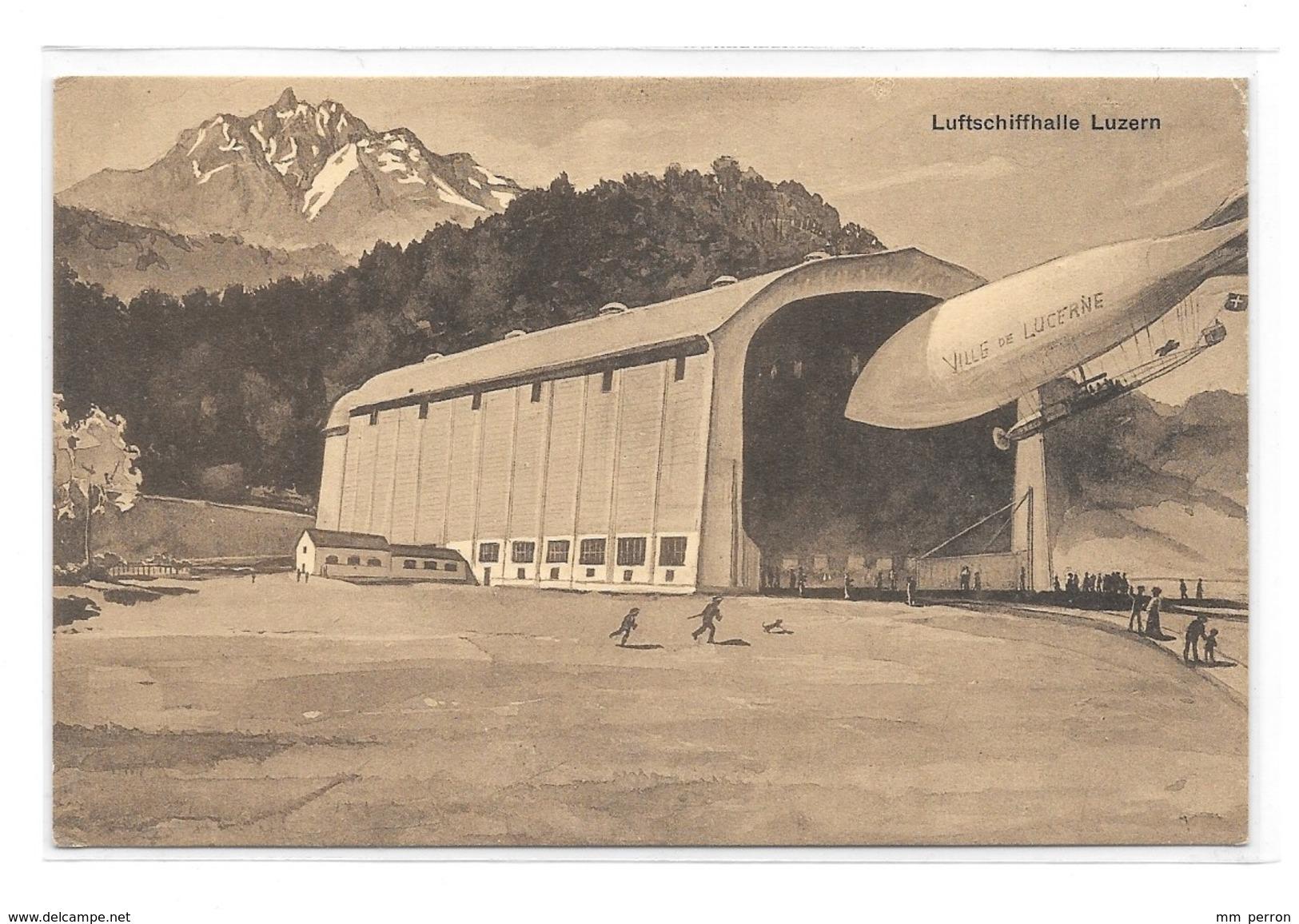 (13064-00) Luftschiffhalle Luzern - Ville De Lucerne - Suisse - Airships