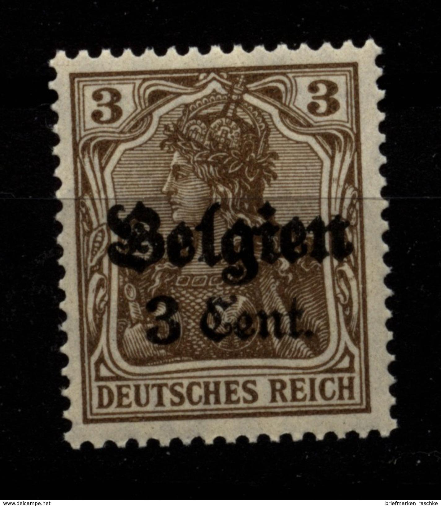 Belgien,11aIII,xx,gep. - Besetzungen 1914-18