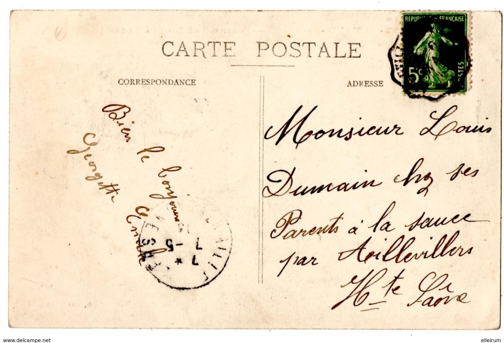 METIERS. ARTISANAT. LUXEUIL-les-BAINS (70) COMMENT ON BRODE à LUXEUIL. 1913. - Artisanat