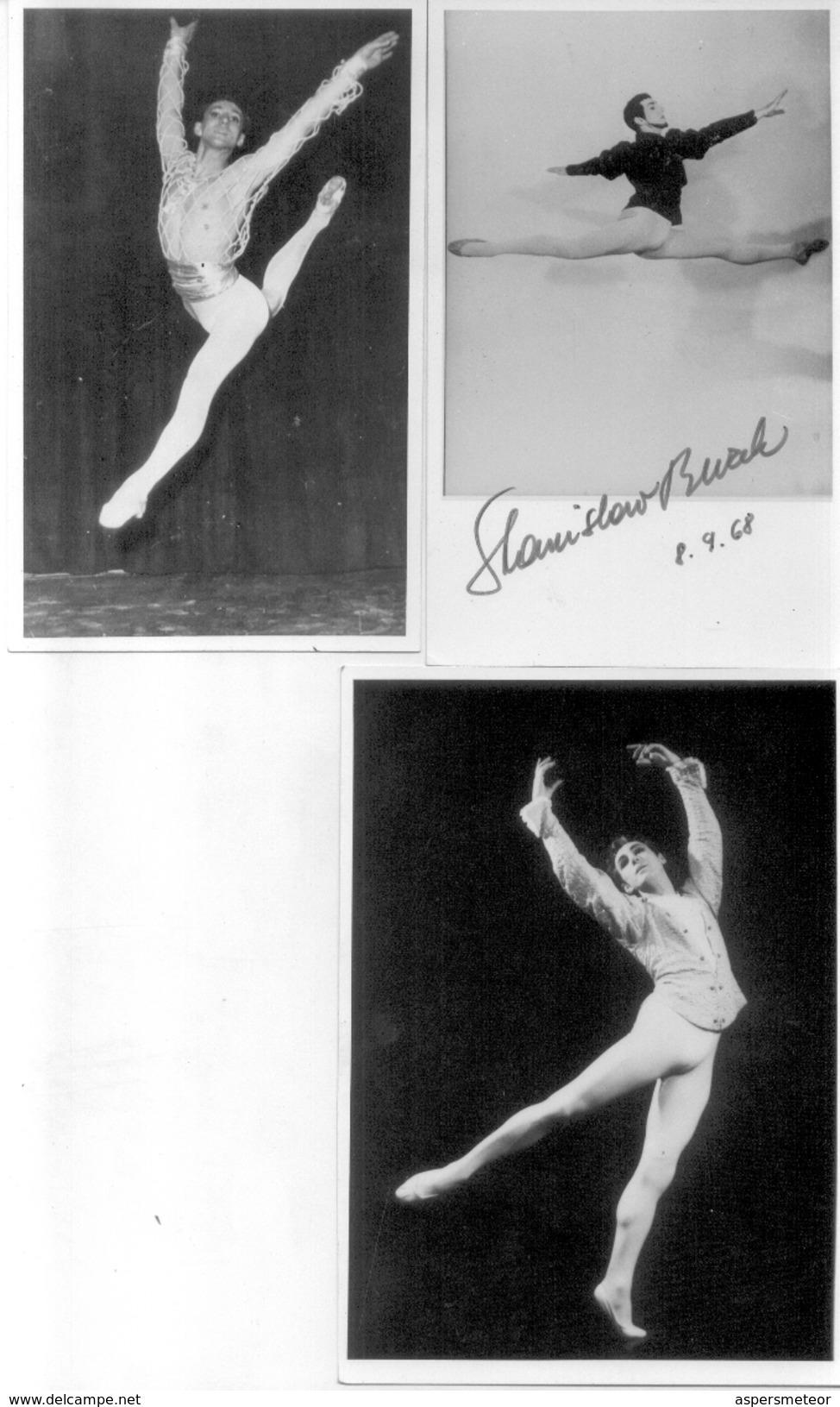 A IDENTIFIER STANISLAV OU STANISLAW BW.... DANCER CHOREOGRAPHER 3 AUTOGRAPHES SUR PHOTOS FROM 1968 TRES BON ETAT - Autographes