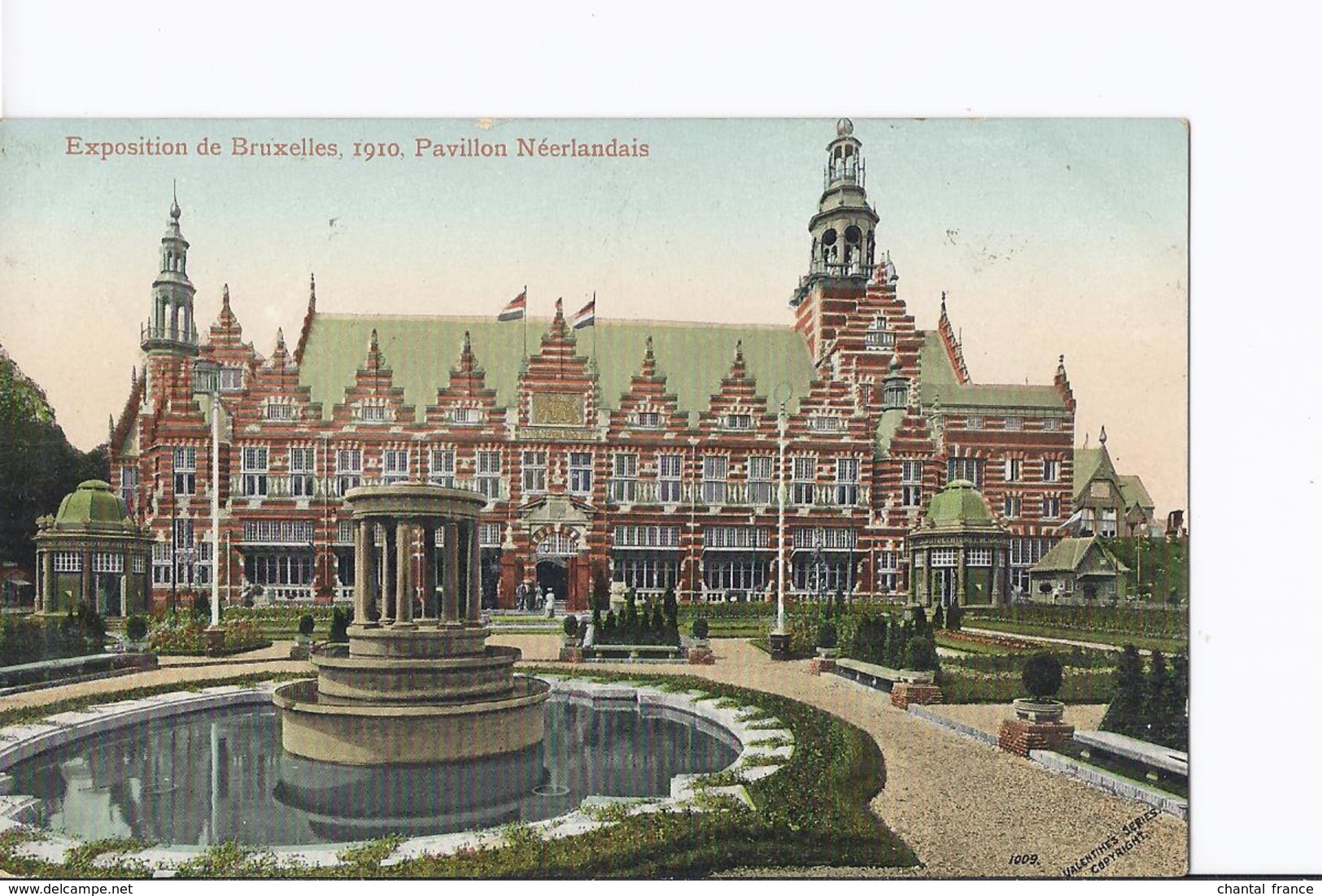 4 Cpa Exposition Bruxelles 1910. Pavillon Neerlandais (Hollandais). Même Thême, Vues Différentes - Exhibitions