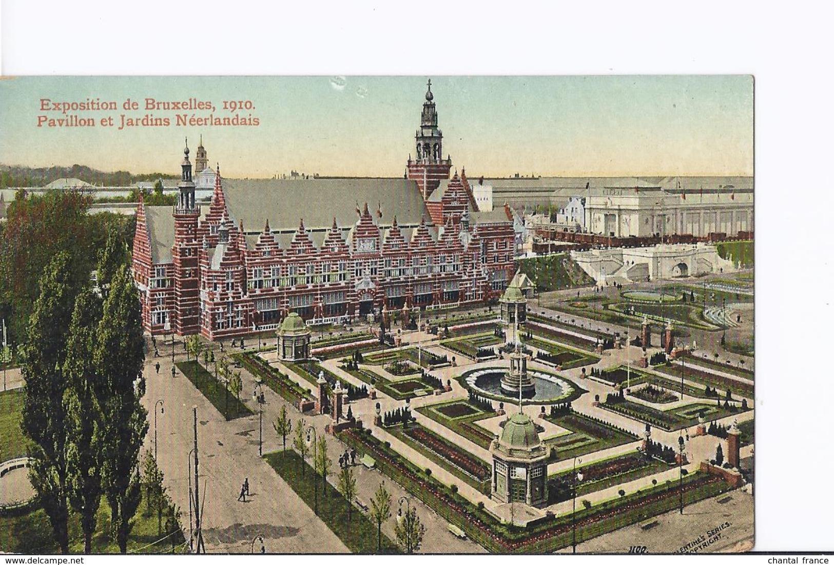 4 Cpa Exposition Bruxelles 1910. Pavillon Neerlandais (Hollandais). Même Thême, Vues Différentes - Exposiciones
