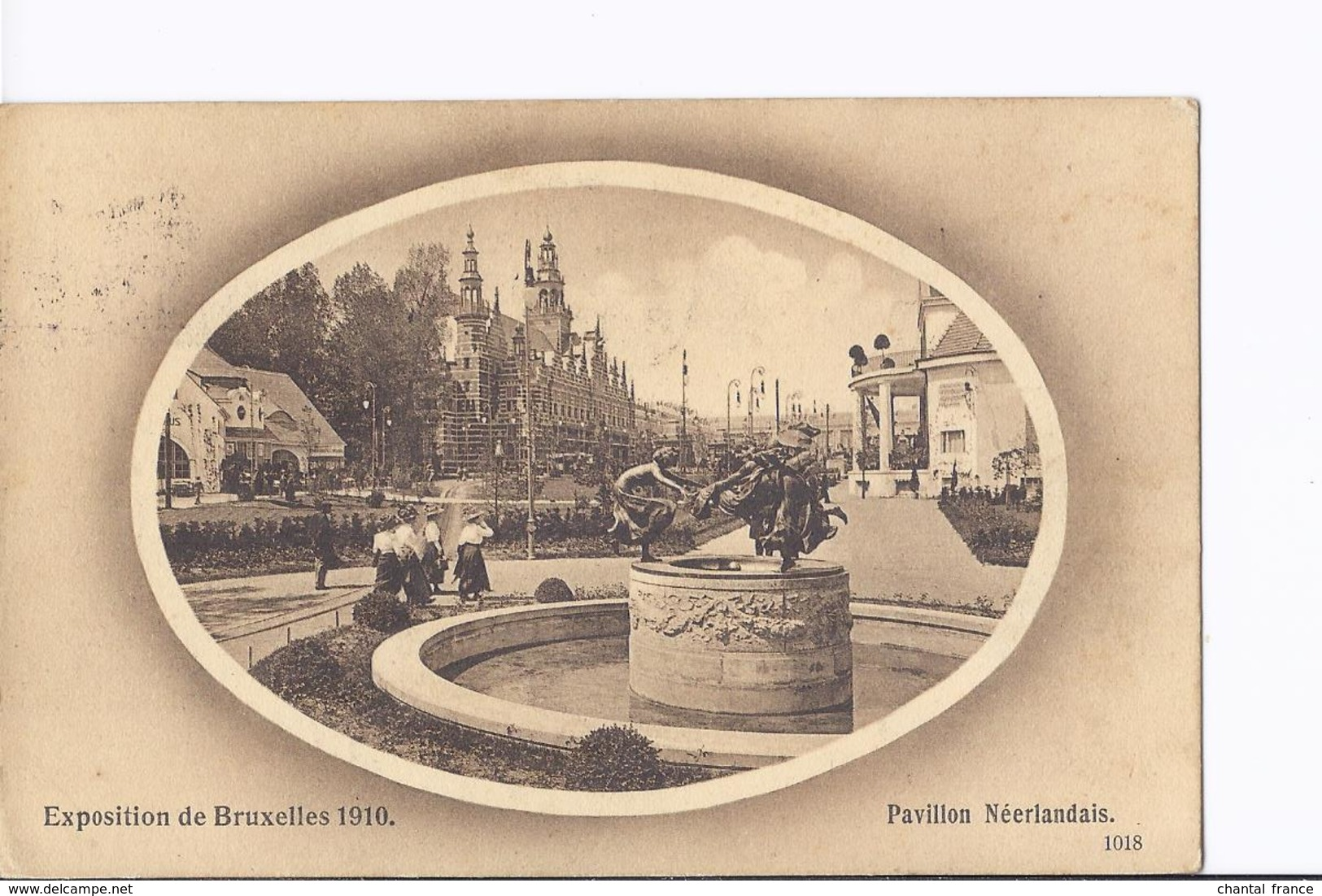 4 Cpa Exposition Bruxelles 1910. Pavillon Neerlandais (Hollandais). Même Thême, Vues Différentes - Tentoonstellingen