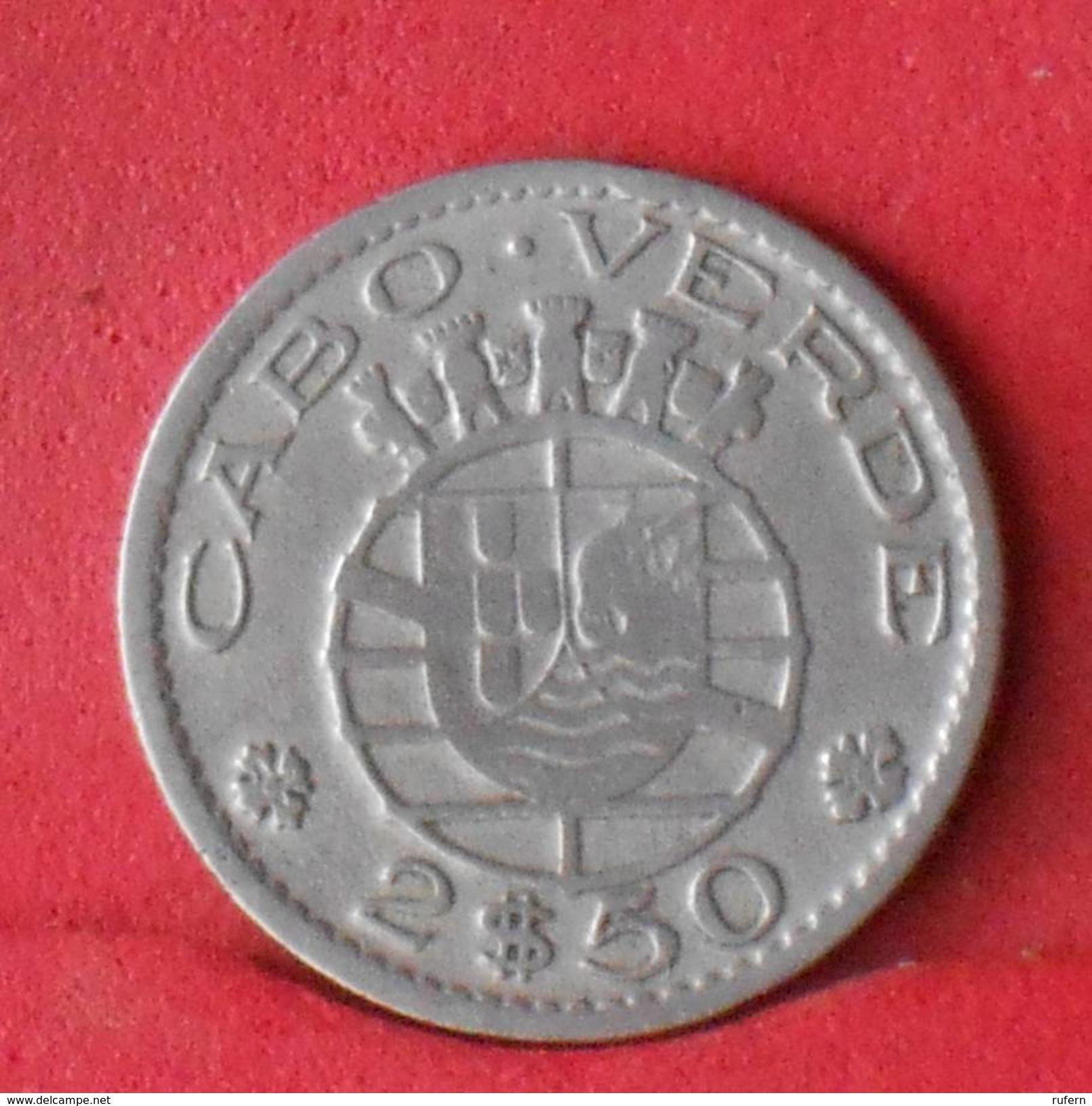 CAPE VERDE 2,5 ESCUDOS 1953 -    KM# 9 - (Nº17955) - Cap Vert
