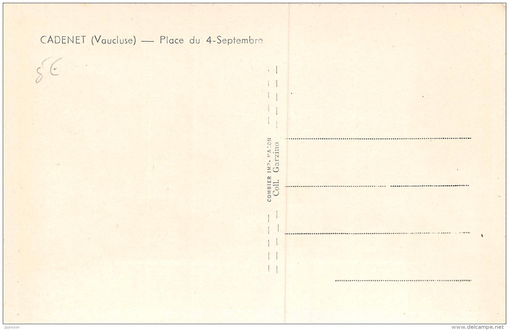 VAUCLUSE  84    CADENET  PLACE DU 4 SEPTEMBRE  MARCHE - Cadenet