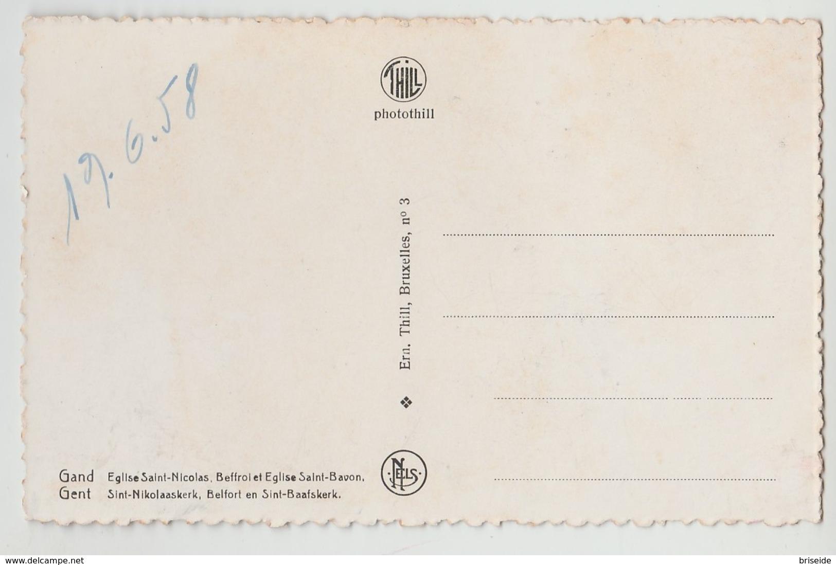 GAND GENT EGLISE SAINT NICOLAS CHIESA DI SAN NICOLA F/P NON VIAGGIATA MA DATATA 1958 - Gent