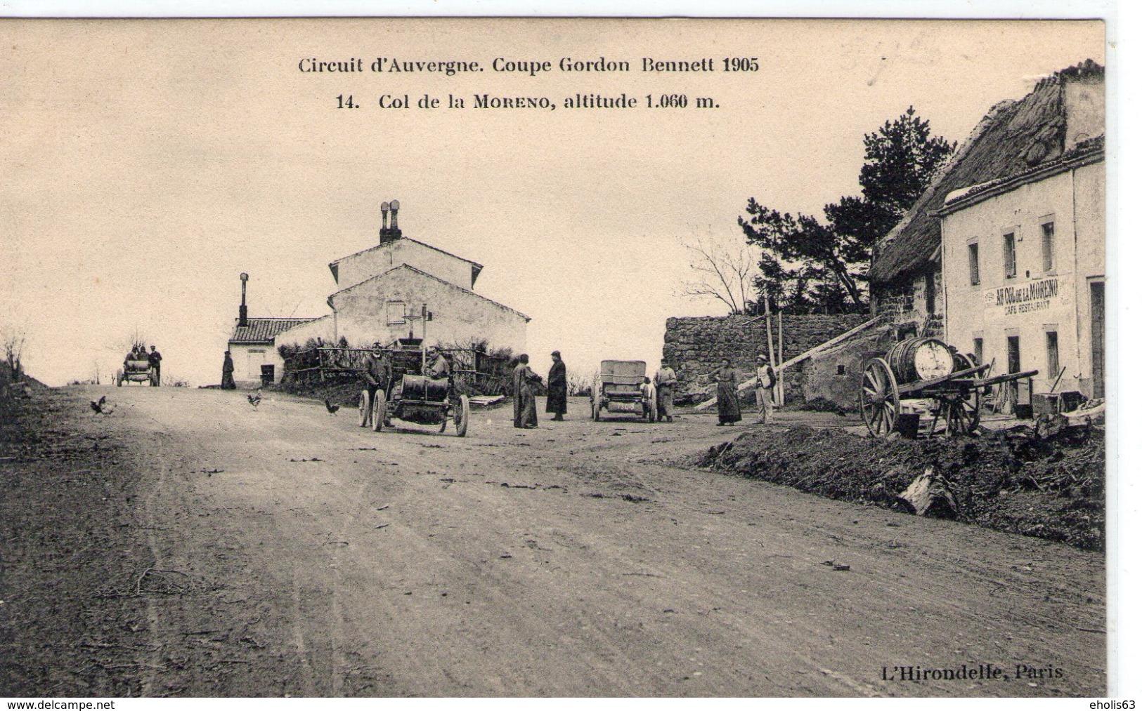 Circuit D'Auvergne - Coupe Gordon Bennett 1905 - COL DE LA MORENO 14 - TBE+ - Motorsport
