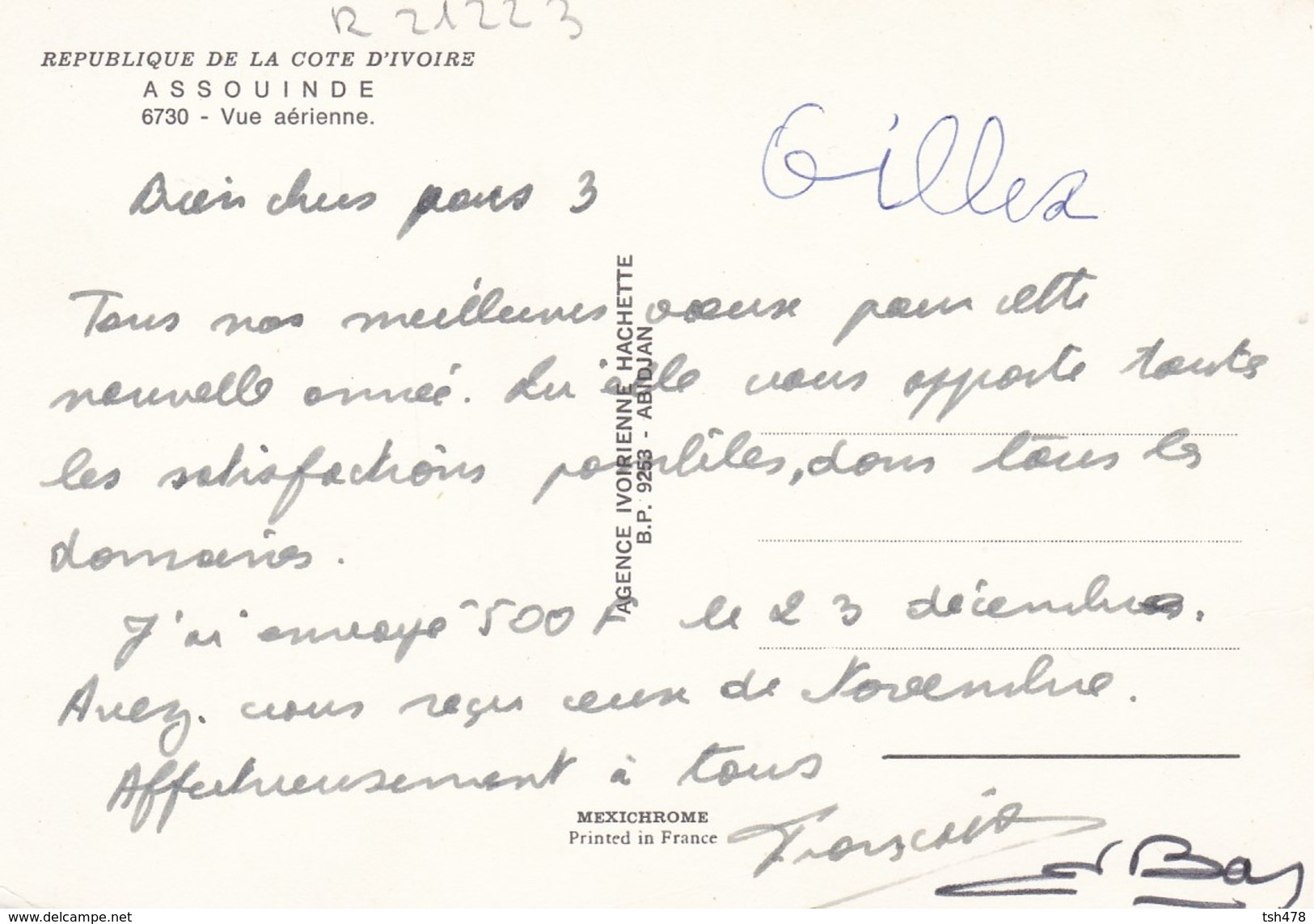 COTE D'IVOIRE---RARE----ASSOUINDE---vue Aérienne--voir 2 Scans - Côte-d'Ivoire