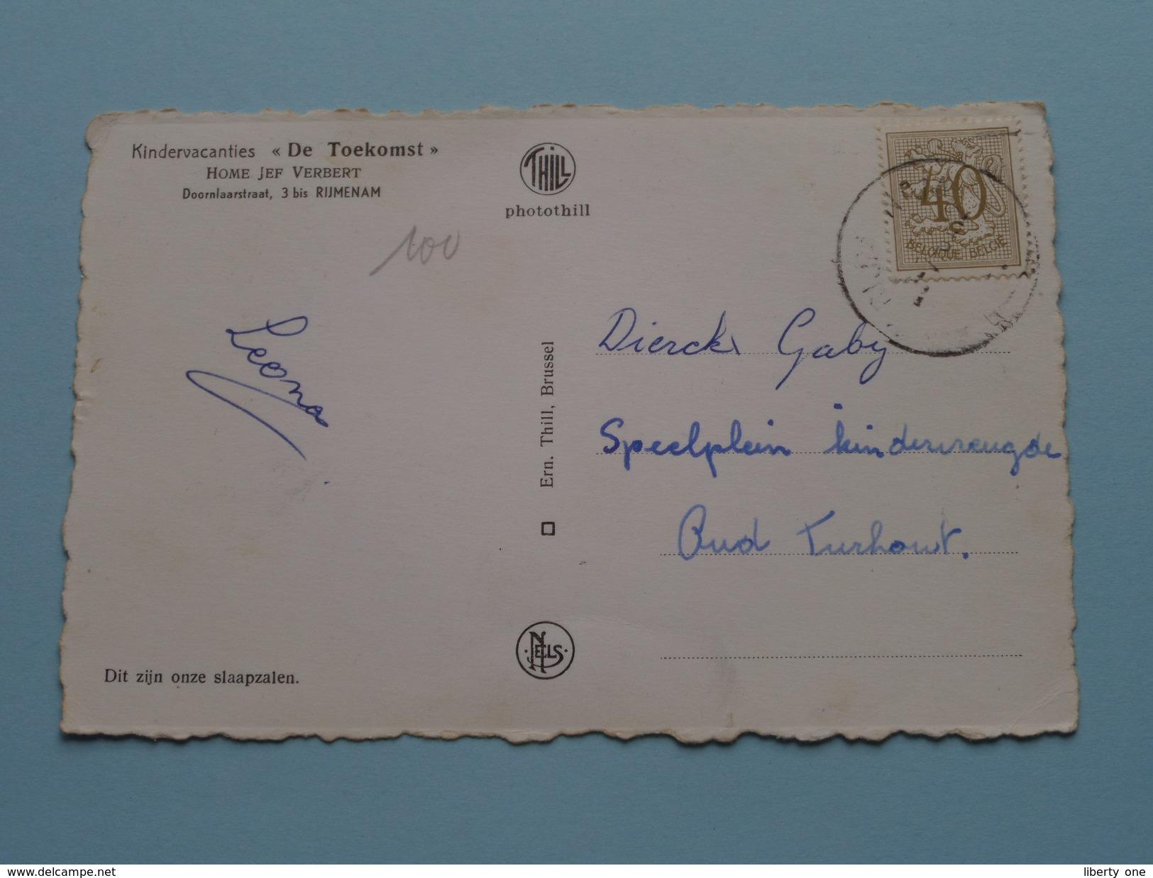 """Kindervacanties """" De TOEKOMST """" Home Jef Verbert Dit Zijn Onze Slaapzalen - RIJMENAM / Anno 195? ( Zie Foto Details ) !! - Bonheiden"""