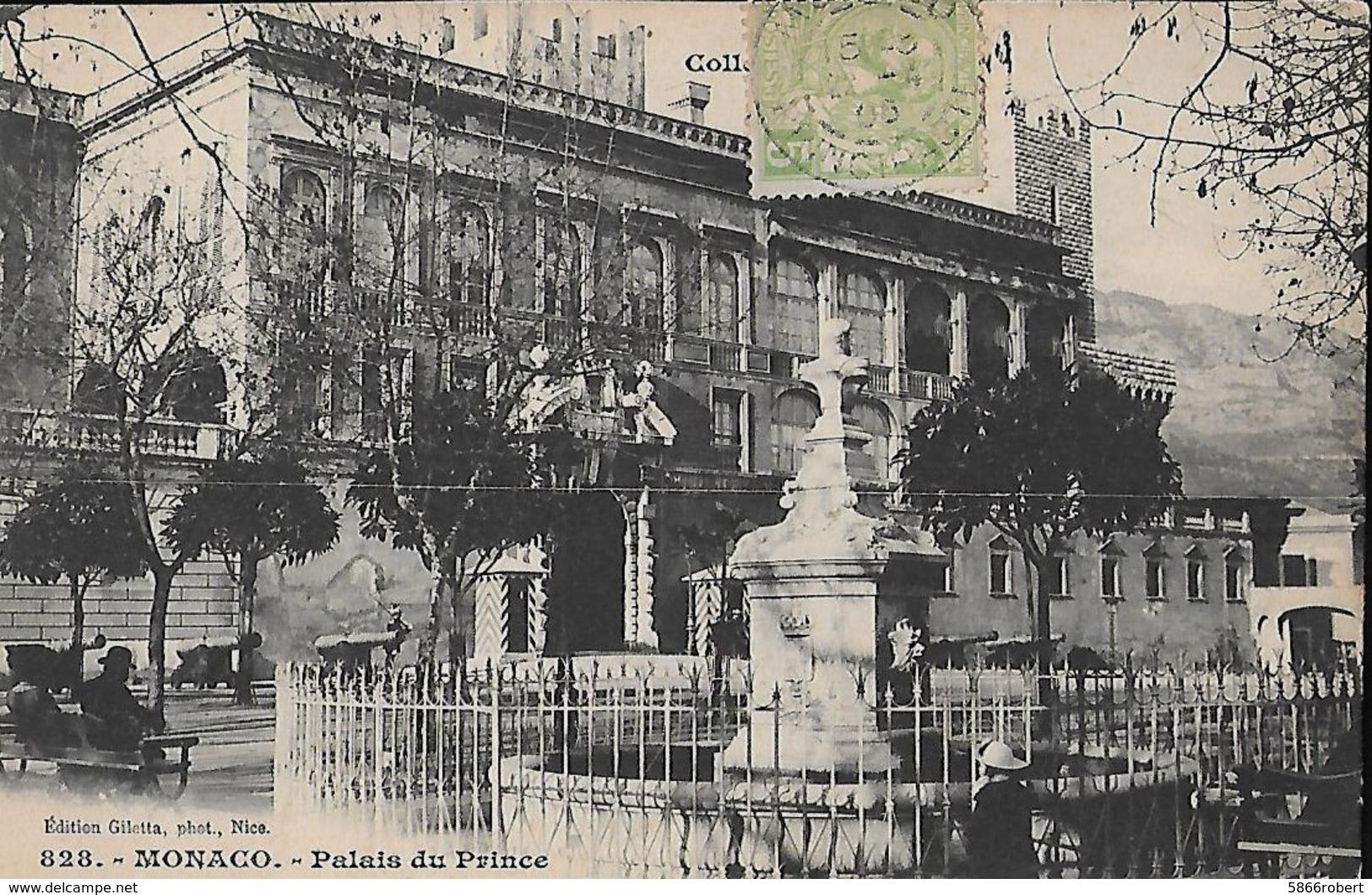 CARTE POSTALE ORIGINALE ANCIENNE : MONACO LE PALAIS DU PRINCE ANIMEE - Palais Princier