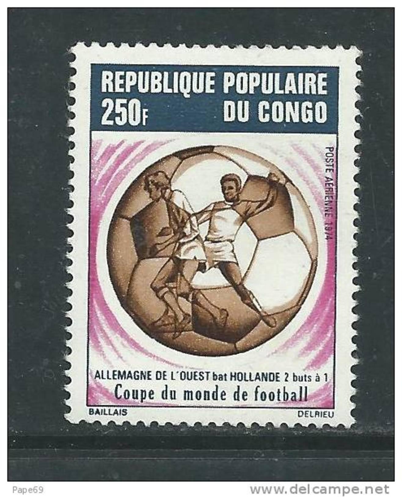 Congo PA N° 192  XX   L'Allemagne Occidentale Vainqueur De La Coupe Du Monde De Football,  Sans Charnière, TB - Congo - Brazzaville