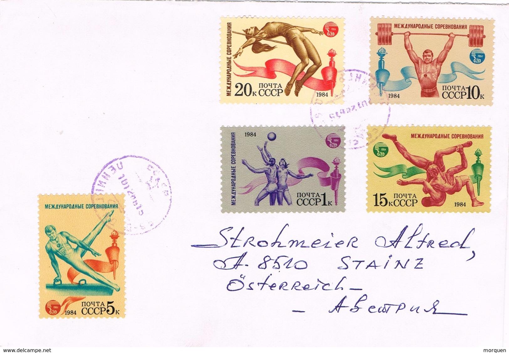 23364. Carta Aerea  LENINGRADO (Rusia) 1988, Stamps Sports - 1923-1991 URSS
