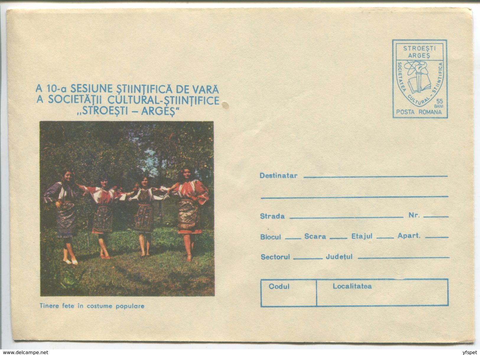 Stroesti-Arges Commune - Women In Local Costumes - Stationery (stamp: Original Design) - Costumes