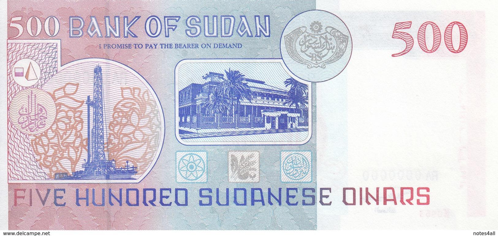 SUDAN 500 DINARS 1998 P-58a SPECIMEN UNC */* - Soudan