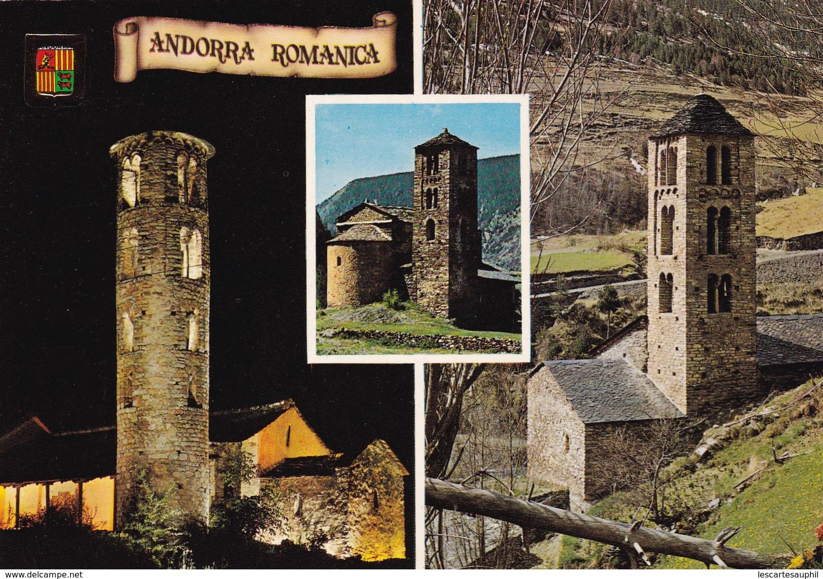 Cpa Andorre Valls D Andorra Divers Aspects Andorra Romanica - Andorra
