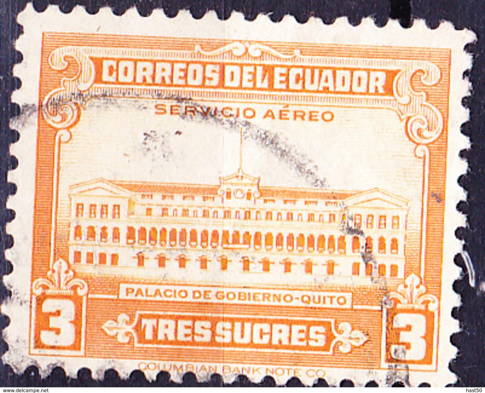 Ecuador - Palacio Carondelet (MiNr. 541) 1944 - Gest. Used Obl.   !! Lesen/read/lire !! - Equateur