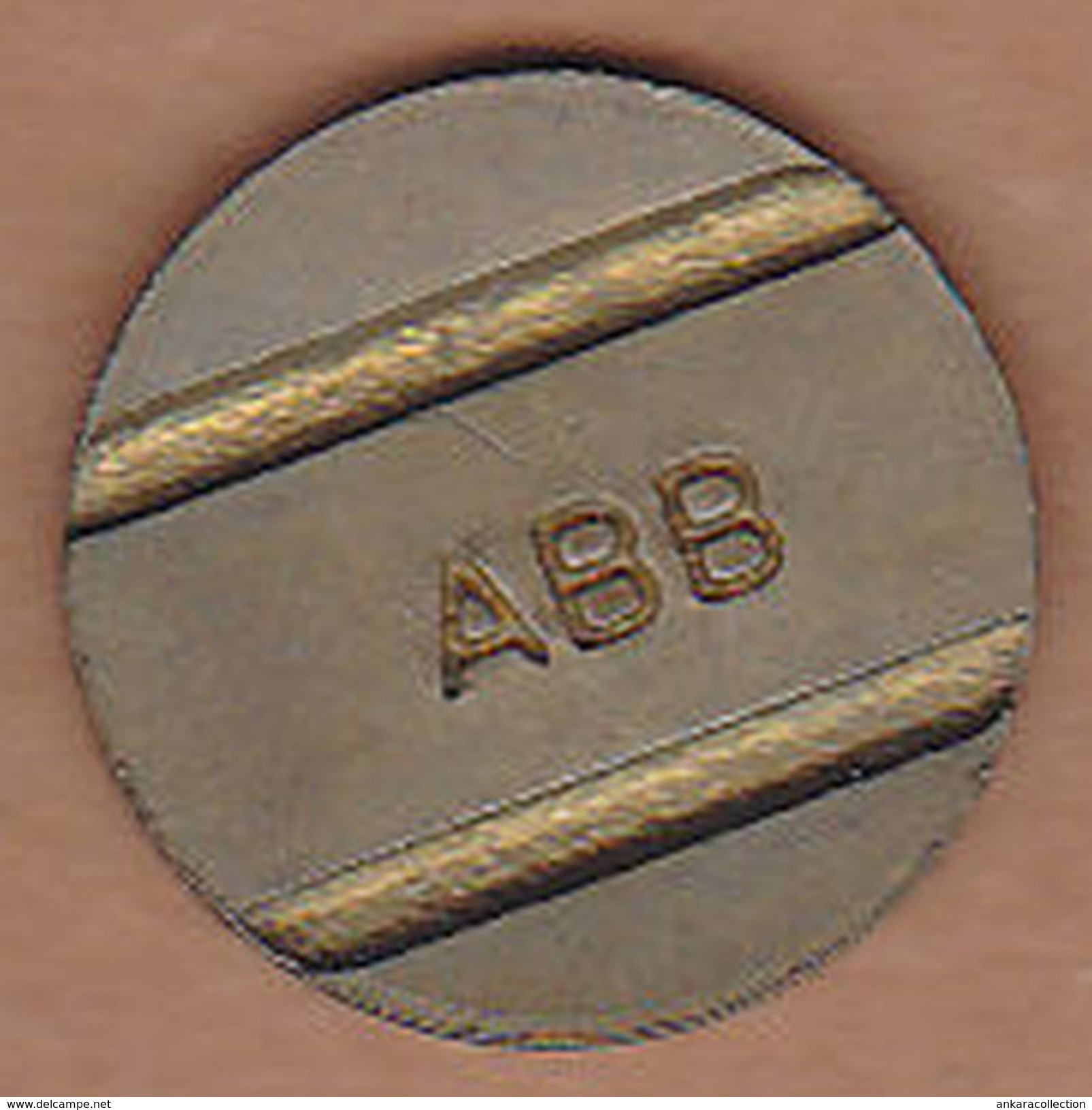AC - ANKARA METROPOLITAN MUNICIPALITY PARKING TOKEN SMALLER CHARACTERS BRASS - Noodgeld