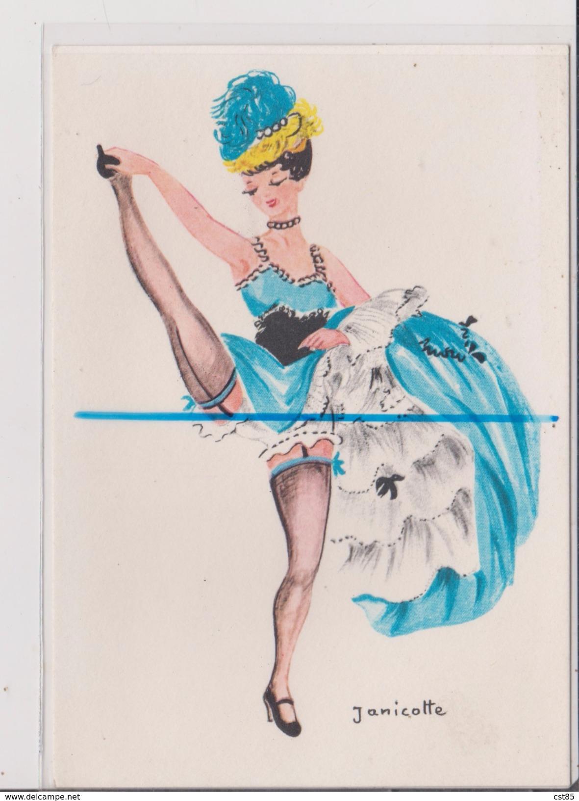 Carte Postale - Illustration - JANICOTTE - Danseuse - Illustrateurs & Photographes