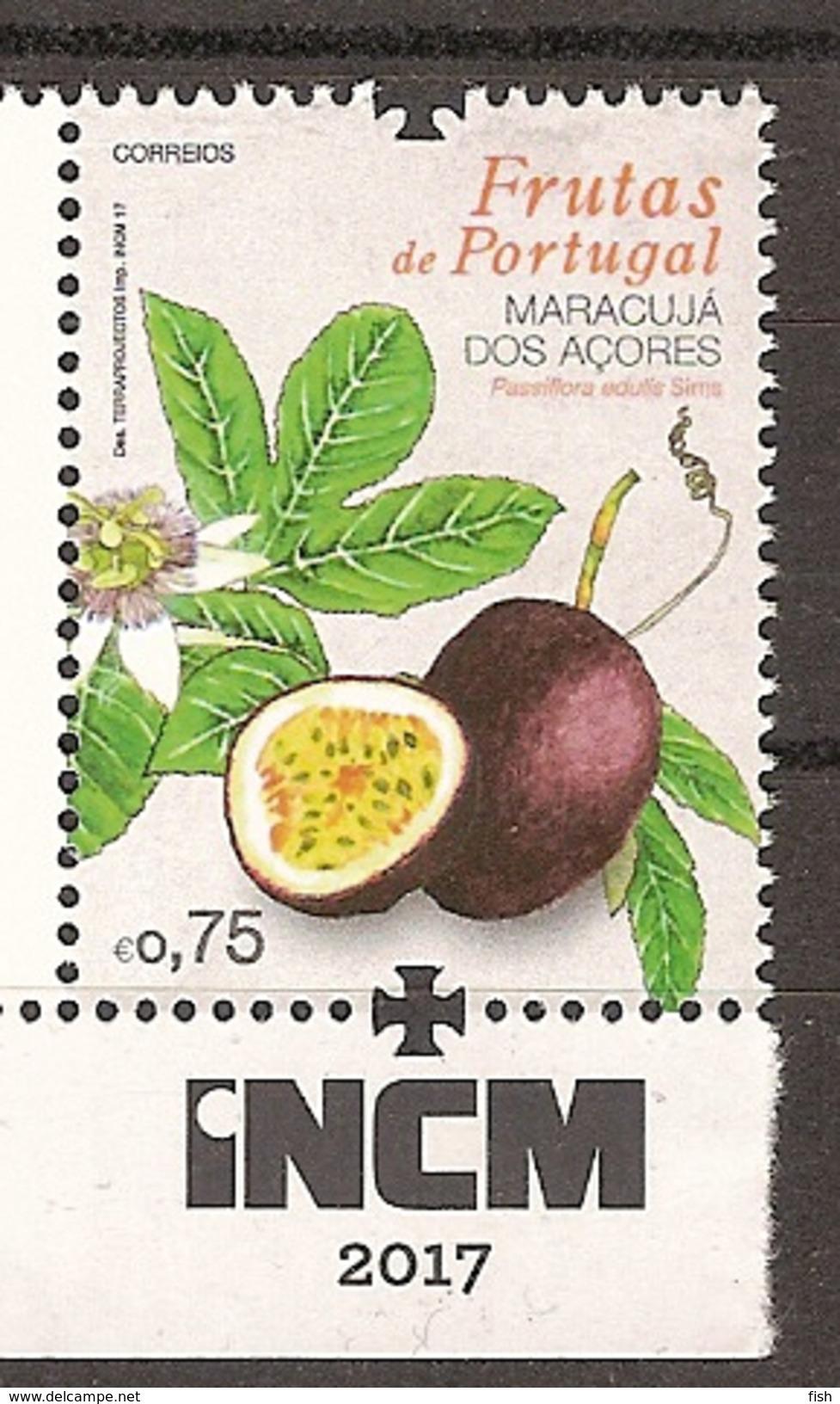 Portugal ** &  Passiflora Edulis Sims, Maracuja Dos Açores 2017 (2019) - 1910 - ... Repubblica