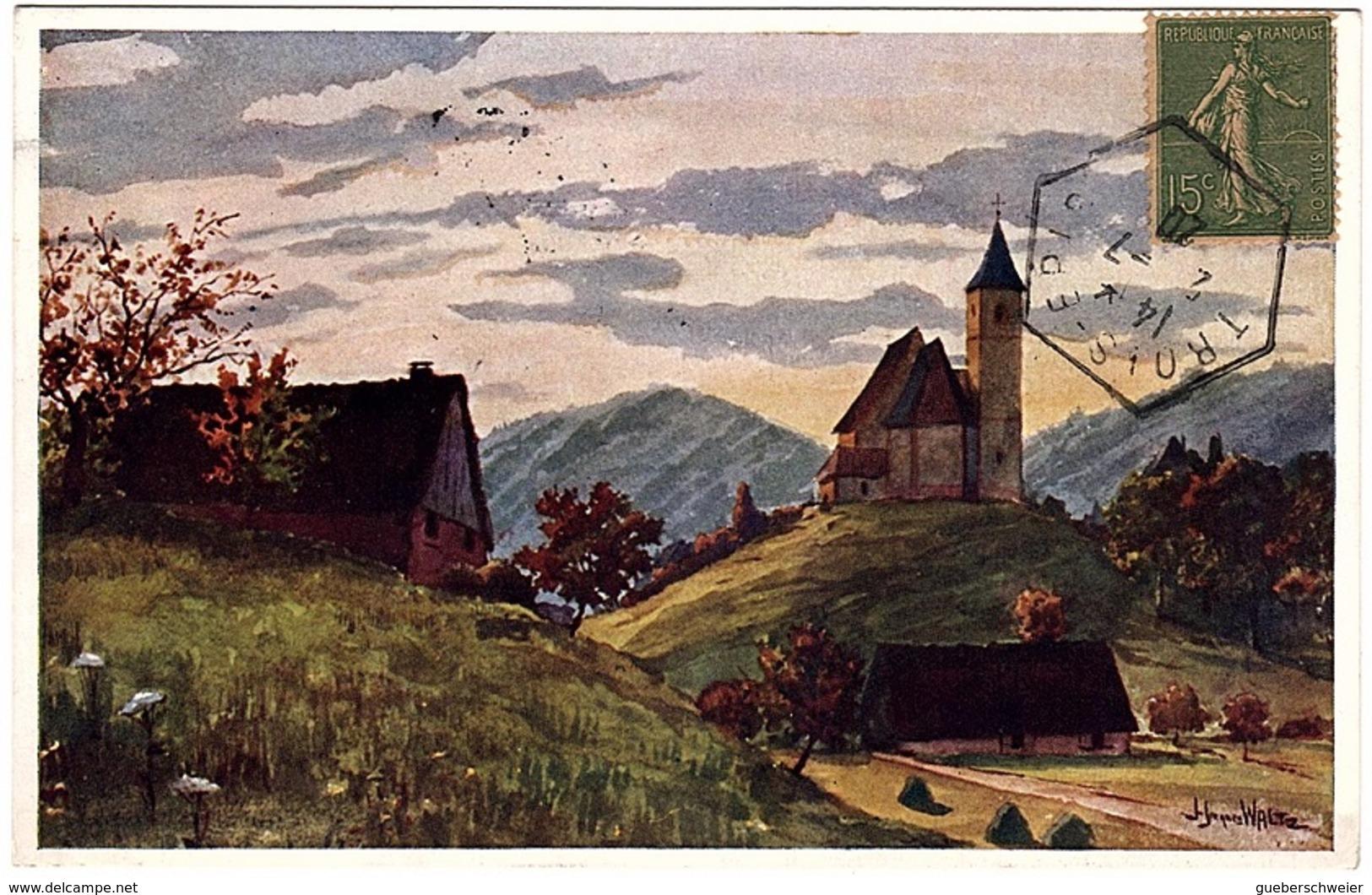 ILL 30 - CPA HANSI - Eglise De Labaroche Obl. Des Trois-Epis - Hansi