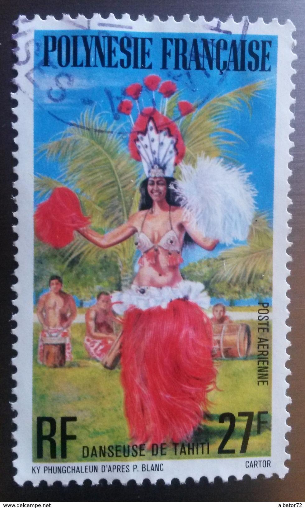 ♥ Polynésie Française YT PA 124 - Danseuse De Tahiti  - 1977- Oblitéré - Poste Aérienne