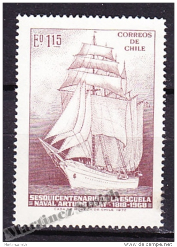 Chile - Chili 1972 Yvert 387, Arturo Prat Naval School 150th Anniversary - MNH - Chile