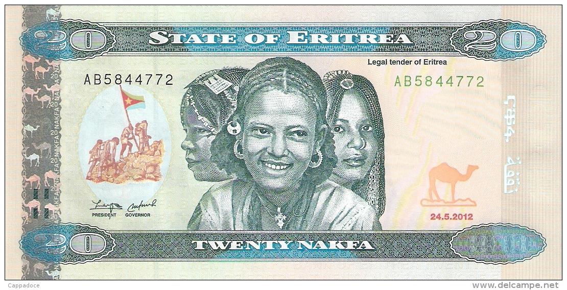 ERYTHREE   20 Nakfa   24/5/2012   P. New   UNC - Eritrea