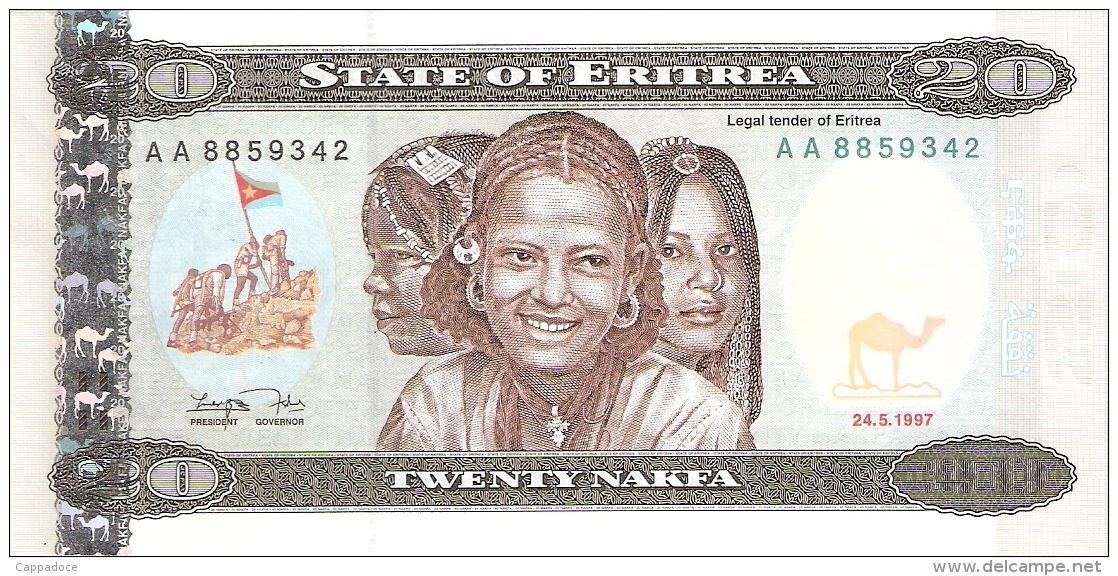 ERYTHREE   20 Nakfa   24/5/1997   P. 4   UNC - Erythrée