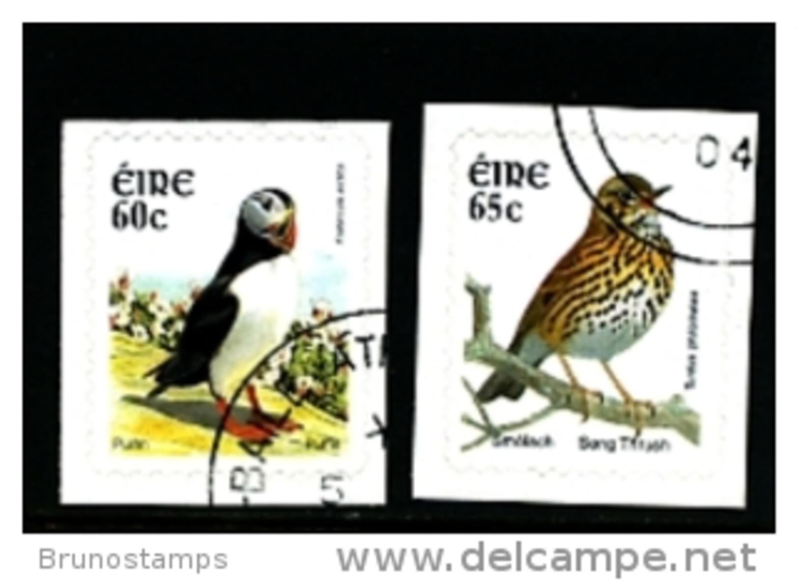 IRELAND/EIRE - 2004  BIRDS (60c. + 65c.)  SELF  ADHESIVE  SET  FINE USED - 1949-... Repubblica D'Irlanda