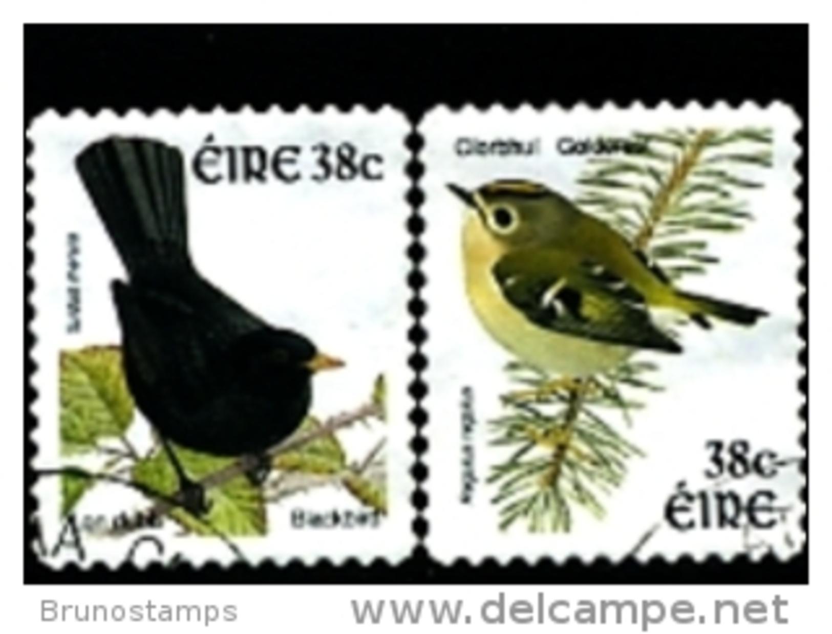 IRELAND/EIRE - 2002  BIRDS  SELF ADHESIVE  SET  FINE USED - 1949-... Repubblica D'Irlanda