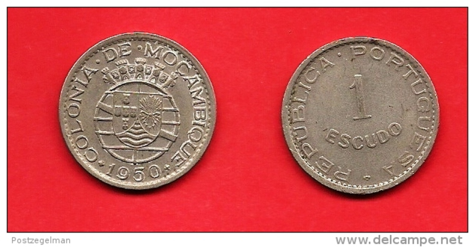 MOZAMBIQUE 1950, Circulated  Coin , 1 Esccudo,nickel Bronze, Km77, C1688 - Mozambique