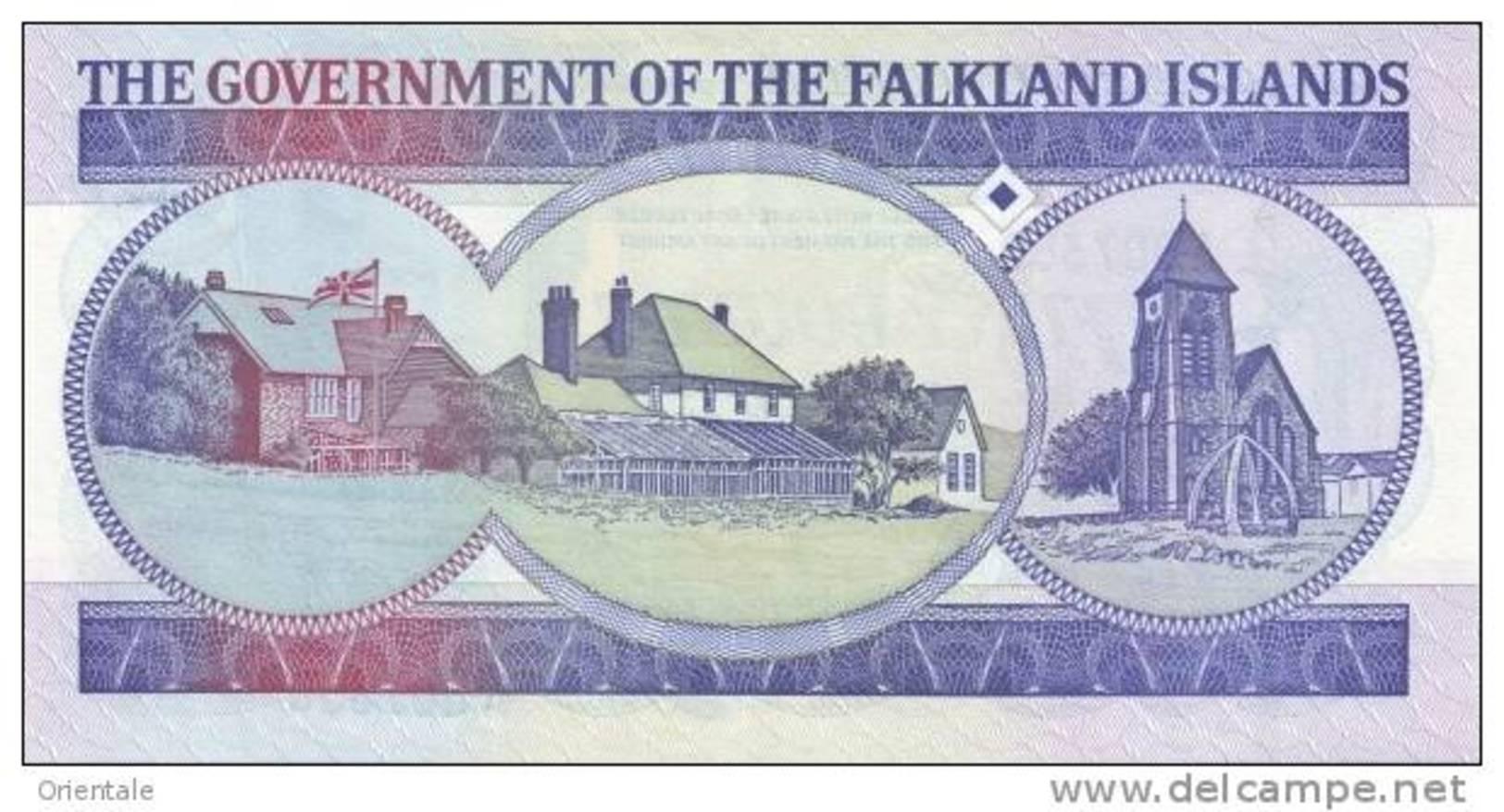 FALKLAND ISLANDS P. 16a 50 P 1990 UNC - Falkland Islands