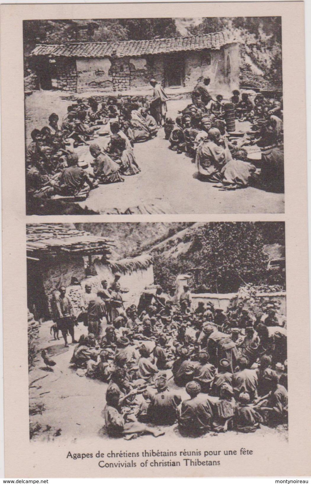 LB 9 : TIBET : Agapes  De  Chrétiens  Thibétains  Réunis Pour Une  Fête - Tibet