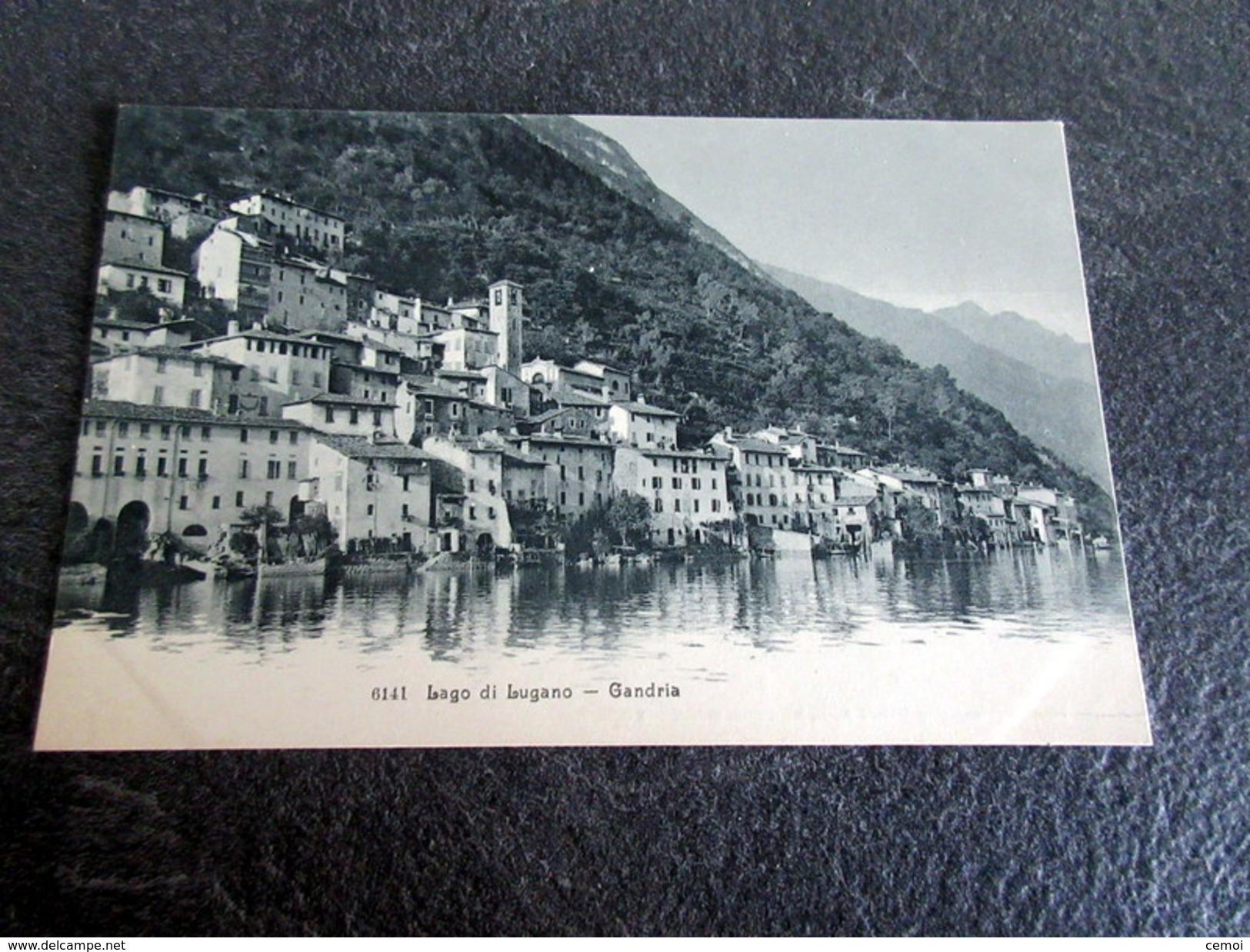 CPA - Lago Di Lugano - GANDRIA (Suisse) - TI Tessin