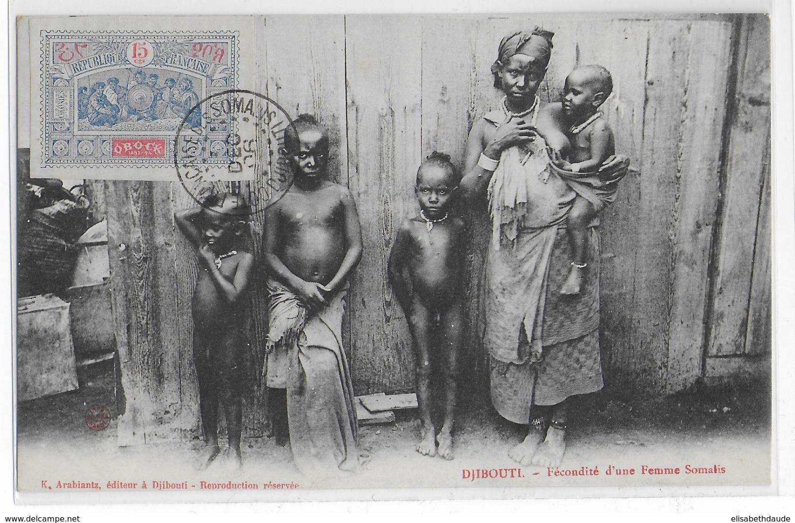 1906 - OBOCK - YVERT N°52 Sur CARTE NON ADRESSEE - Obock (1892-1899)