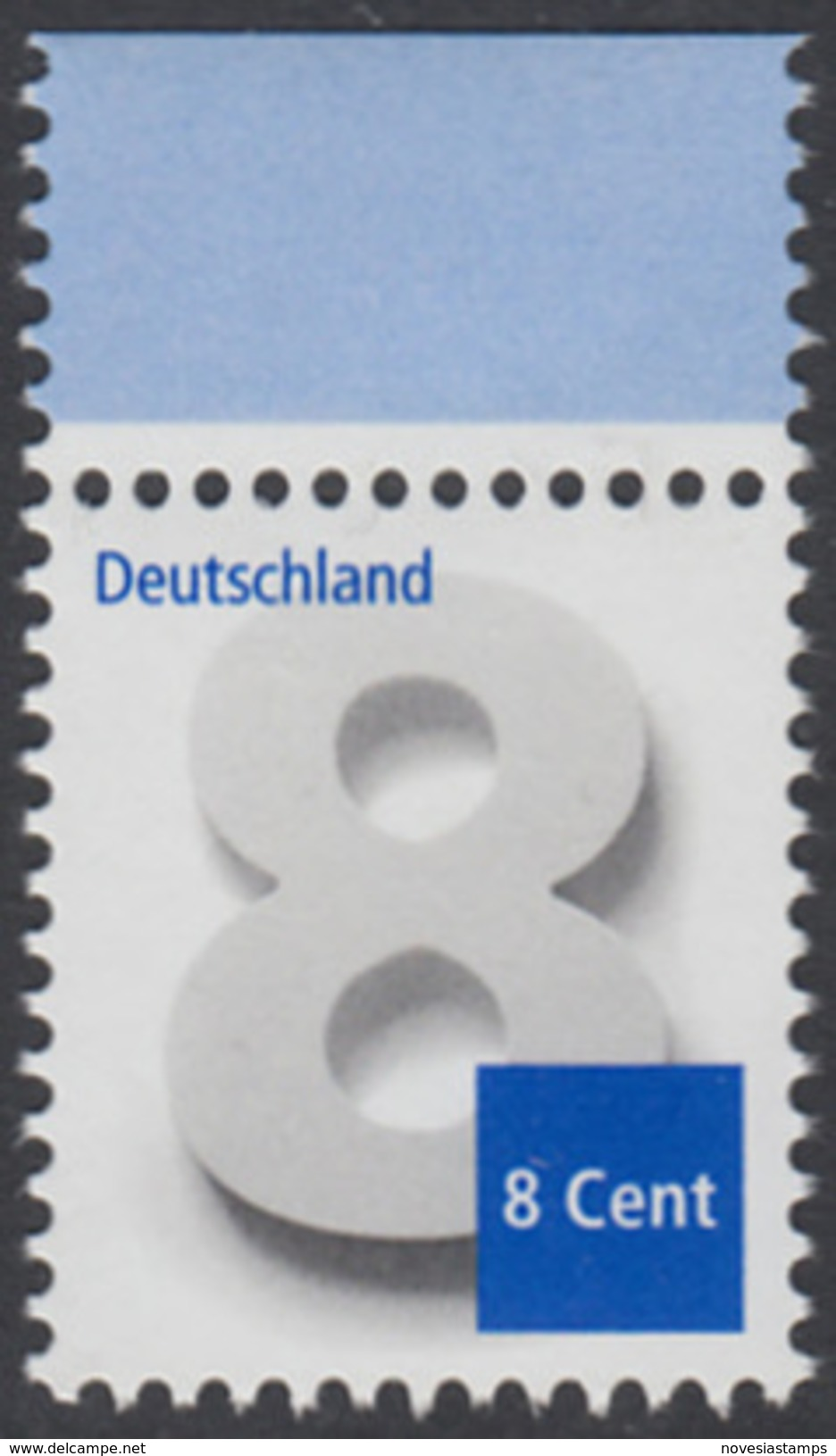 !a! GERMANY 2015 Mi. 3188 MNH SINGLE W/ Top Margin - Numeral Drawing - [7] Repubblica Federale
