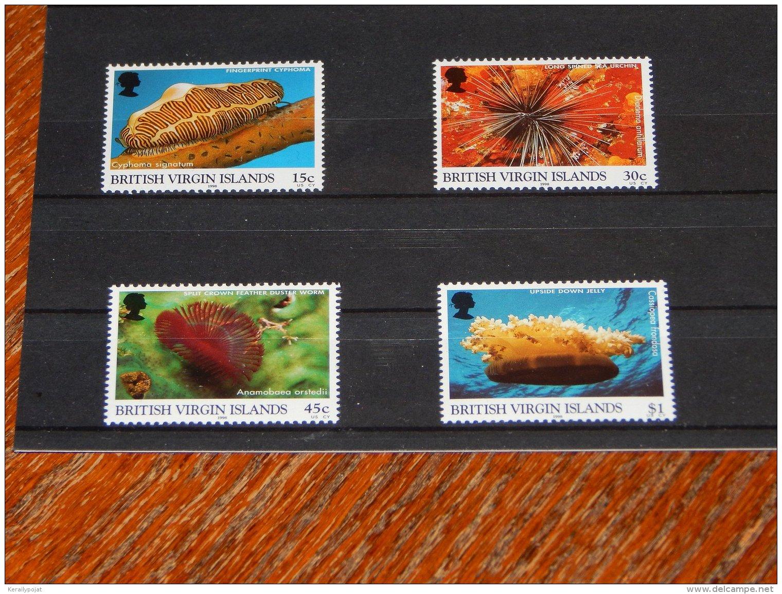 British Virgin Islands - 1998 Marine Life MNH__(TH-18417) - British Virgin Islands