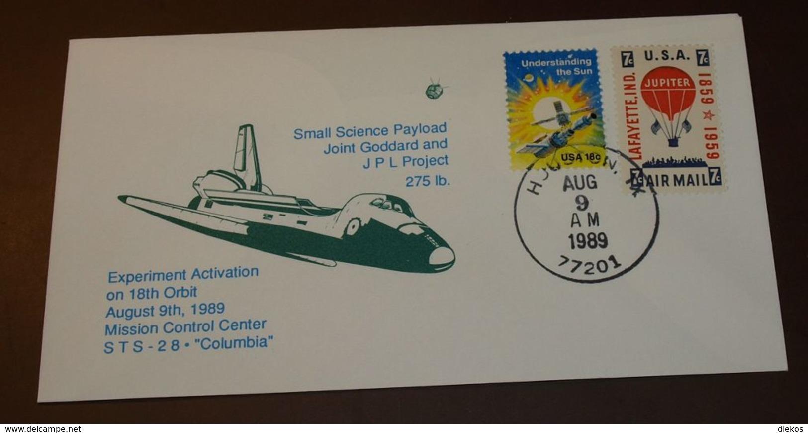 Space   USA STS 28 Columbia  1989  #cover3518 - Briefe U. Dokumente
