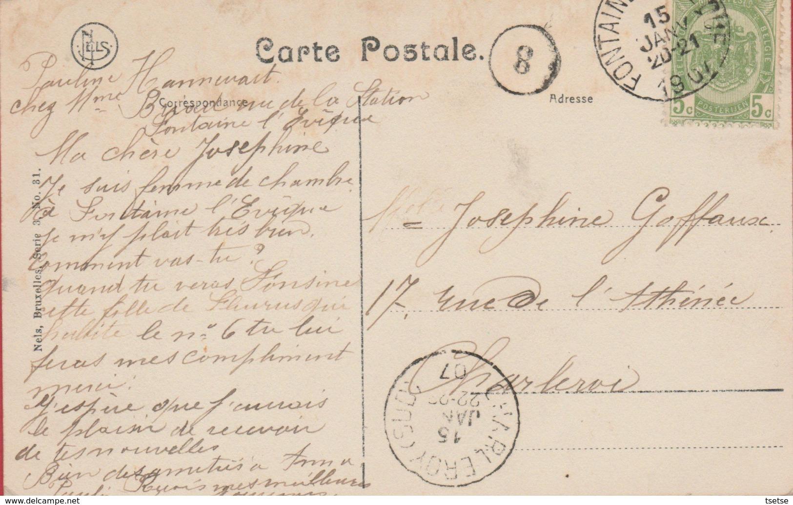 Fontaine L'Evêque - Château De Mr. Briard , Vu De Dernière - 1907 ( Voir Verso ) - Fontaine-l'Evêque