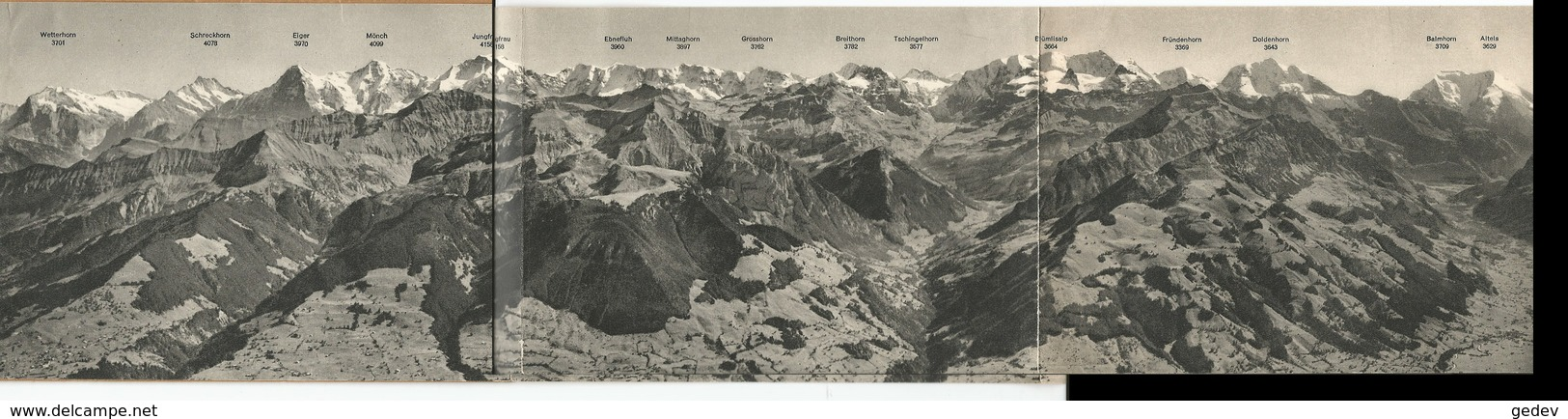 Panorama Niesen-Kulm, Dépliant 3x 10.5X15 - Publicités