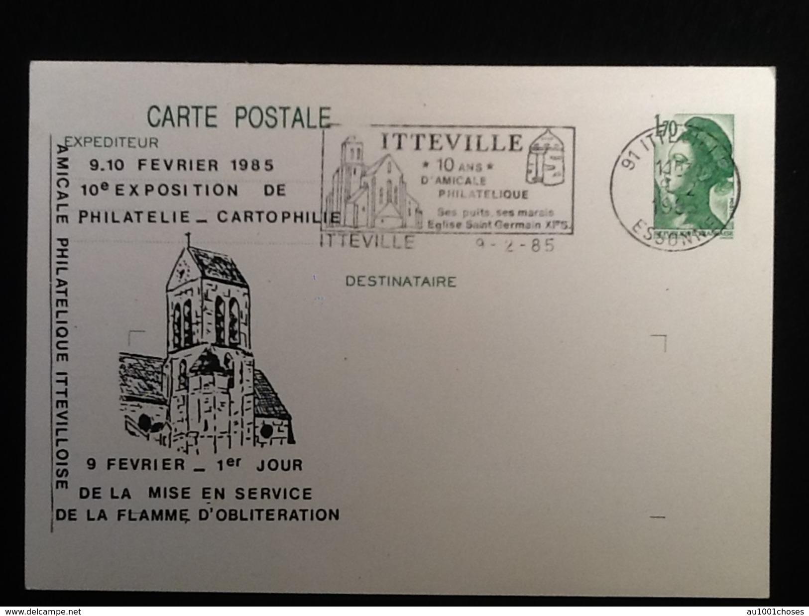 """91   Itteville """"10 Ans"""" D' Amicale Philathélique - Etampes"""