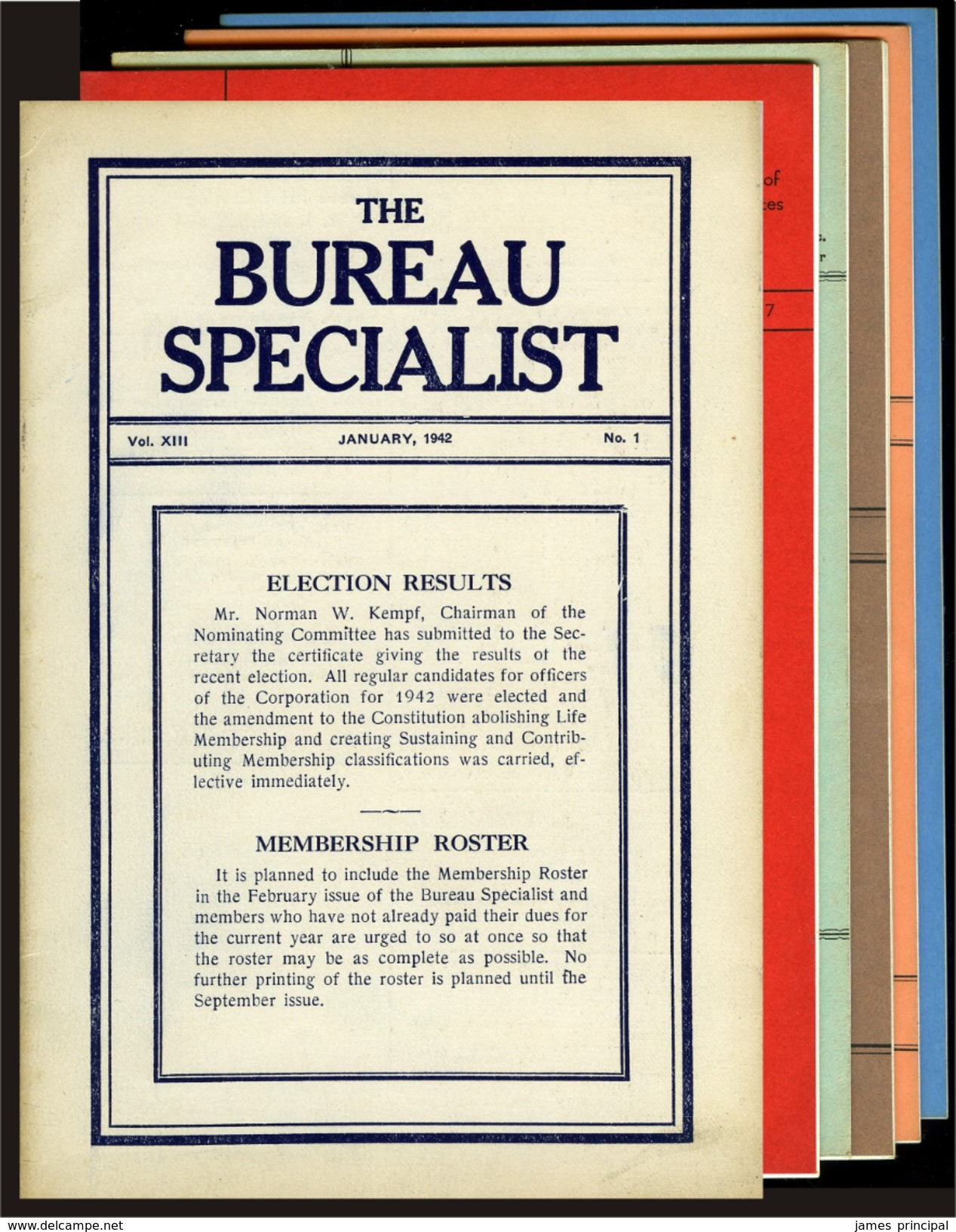 The Bureau Specialist. Collection Of 72 Issues, 1942-1964. - Stamps