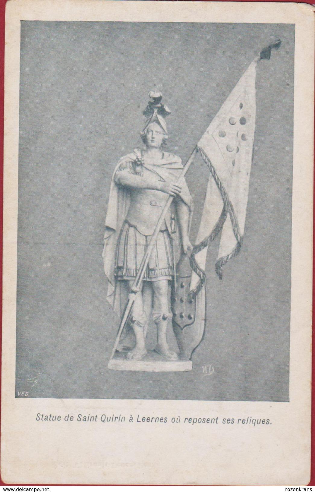 Leernes Fontaine-l'Evêque Statue De Quirin A Leernes Ou Reposent Ses Reliques - Fontaine-l'Evêque
