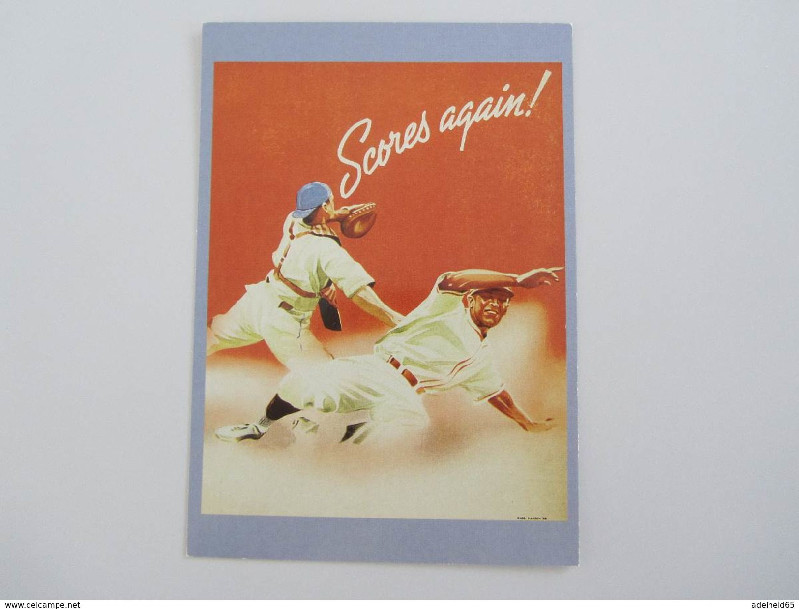 016C/ Baseball 'scores Again' (repro) Mad Dog West Palm Beach Publ. - Sportifs