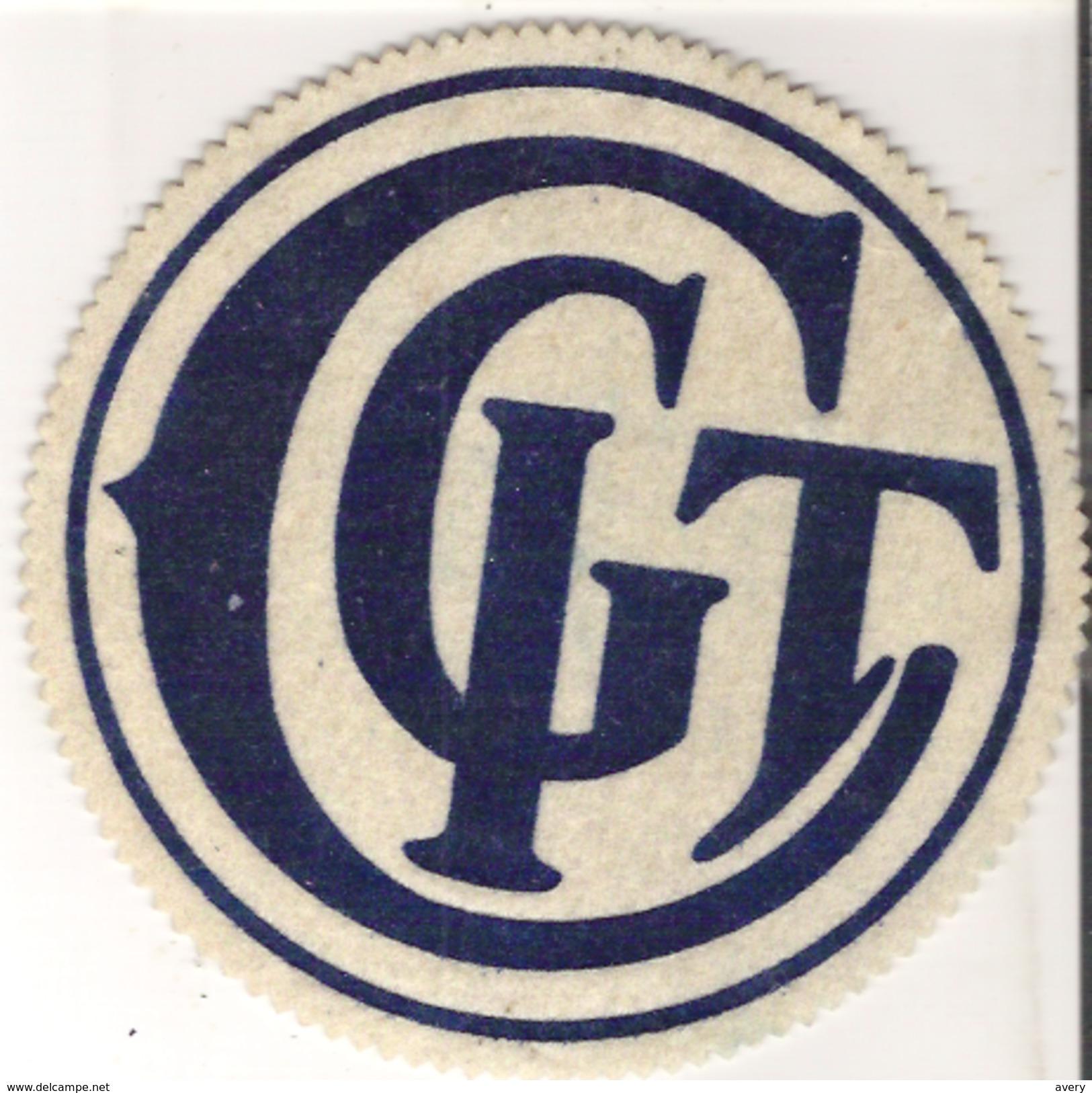 "C. G. I. T. Badge  6"" Diameter   15 Cm Diameter - Pin's"